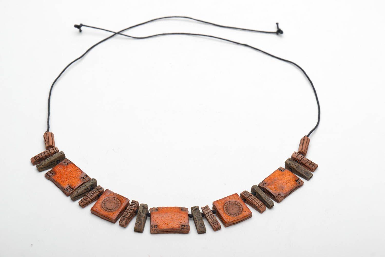 Ethnic ceramic necklace photo 4