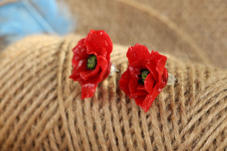 Unusual homemade earrings photo 4