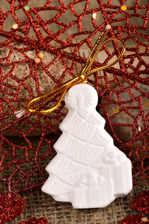 figurines à peindre Figurine à peindre Décoration en plâtre fait main sapin à accrocher Déco maison - MADEheart.com
