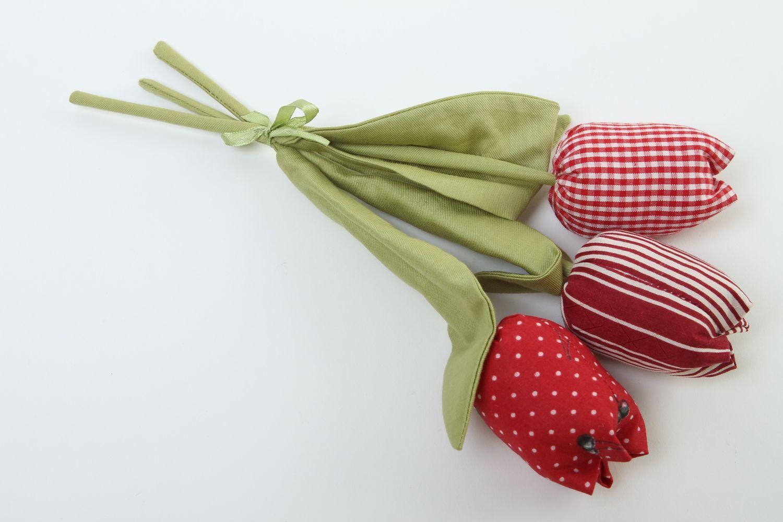 Madeheart flores de tela hechas a mano tulipanes artificiales elementos decorativos - Flores de telas hechas a mano ...
