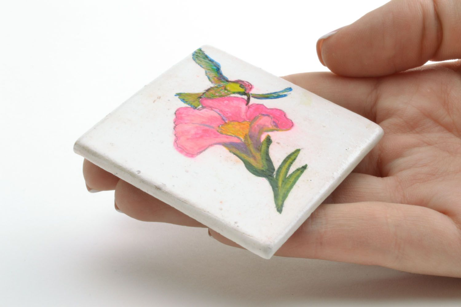 Homemade ceramic fridge magnet photo 2