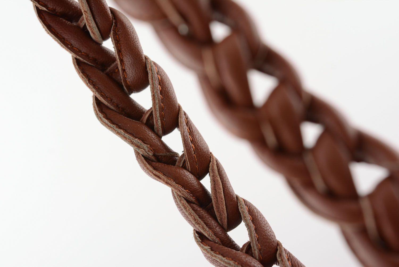 Armband und Collier aus Leder foto 5