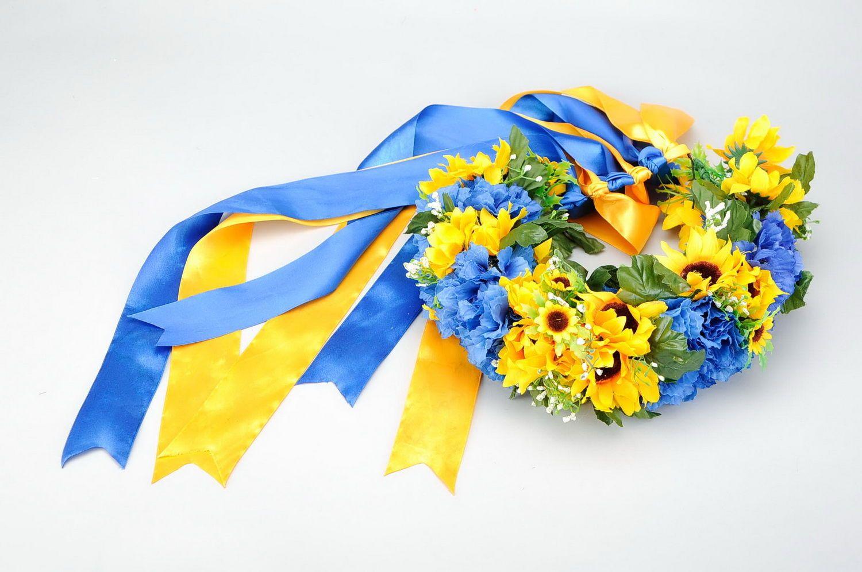 Украинский венок из цветов 5
