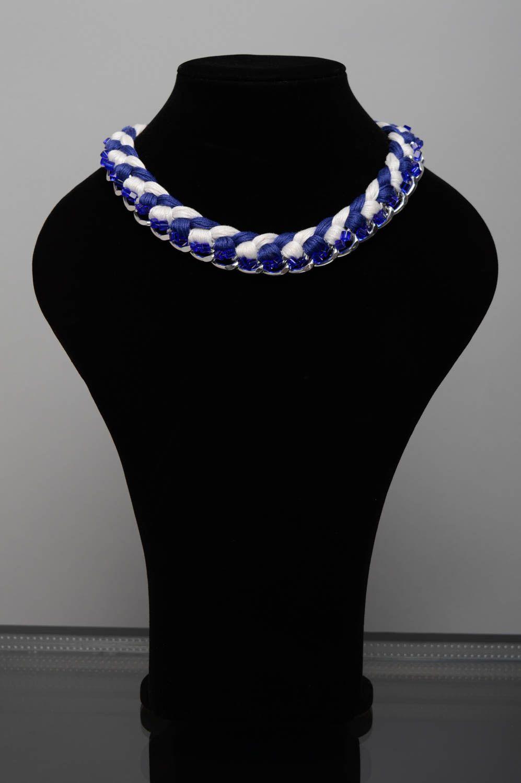 Geflochtene Halskette foto 2