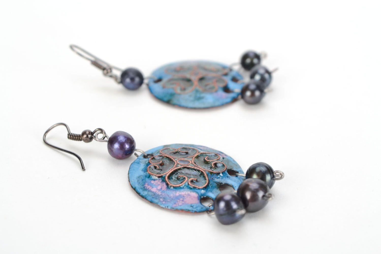 Copper earrings photo 4
