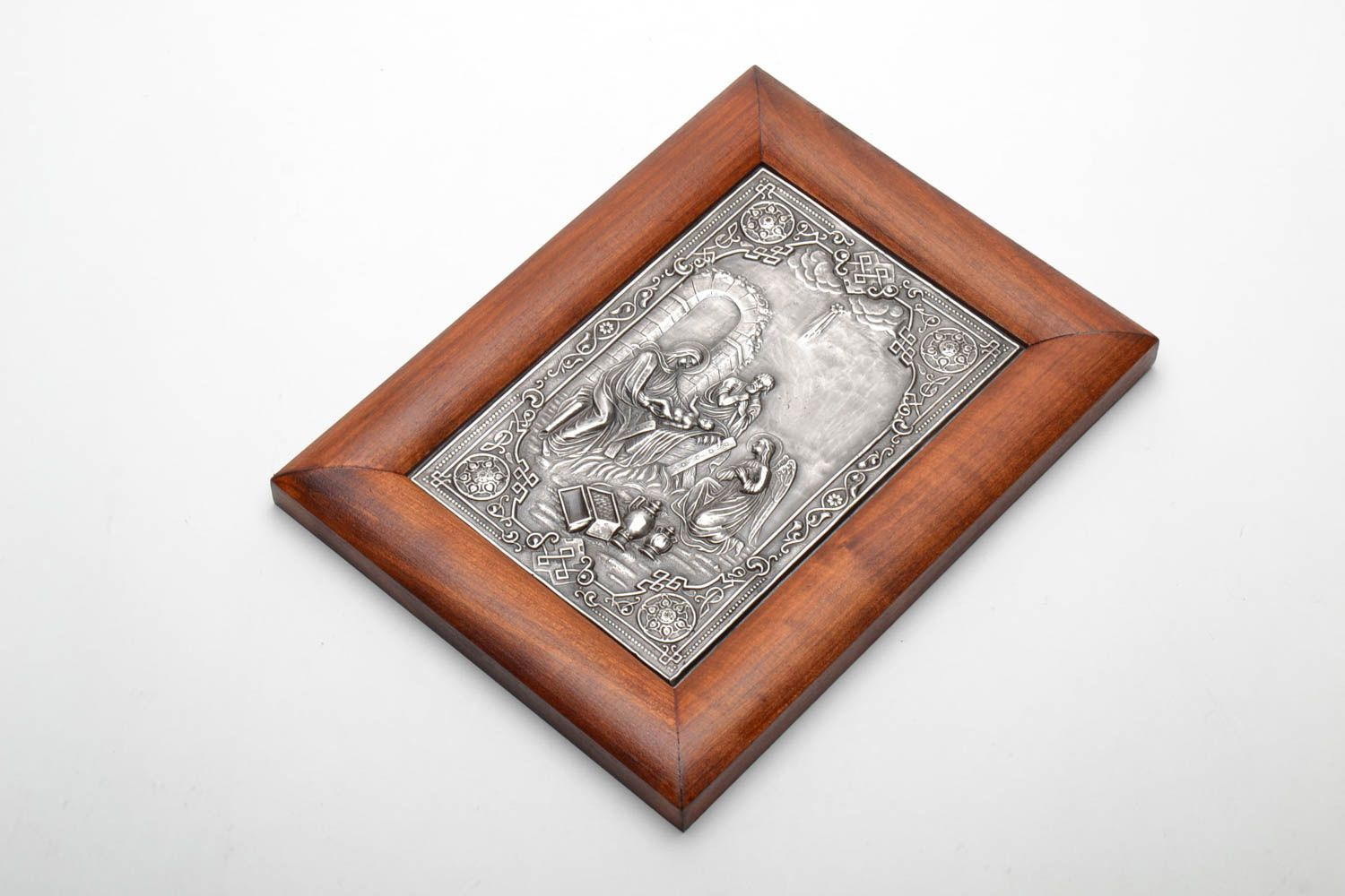 copper Orthodox silvered icon - MADEheart.com