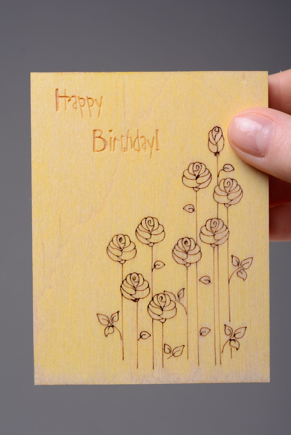 birthday Wooden birthday card - MADEheart.com