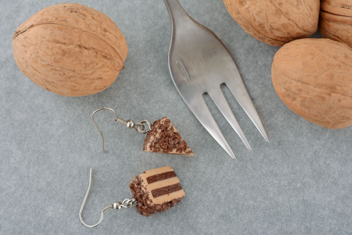 Unusual plastic earrings Cake photo 1