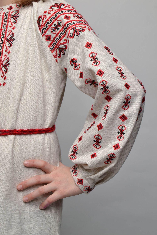 Vestido bordado punto de cruz