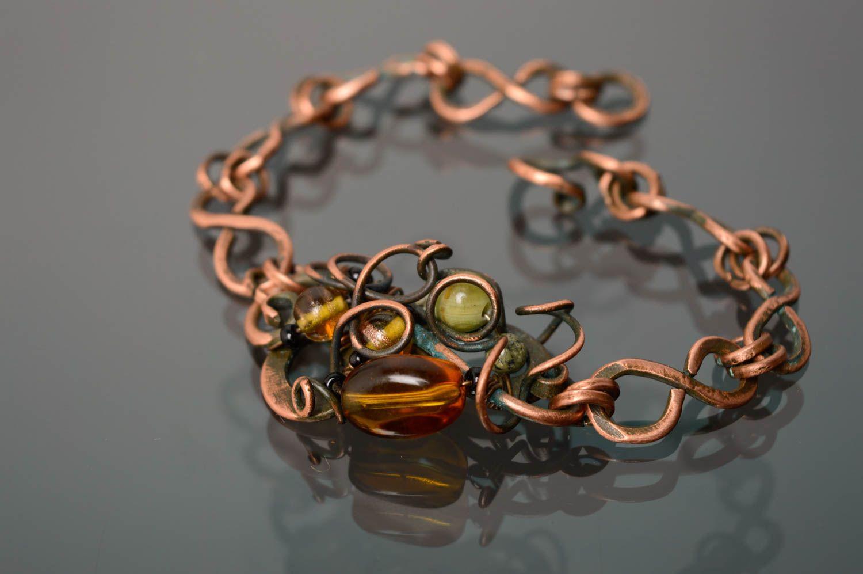 Armband Wire Wrap Technik aus Kupfer foto 3