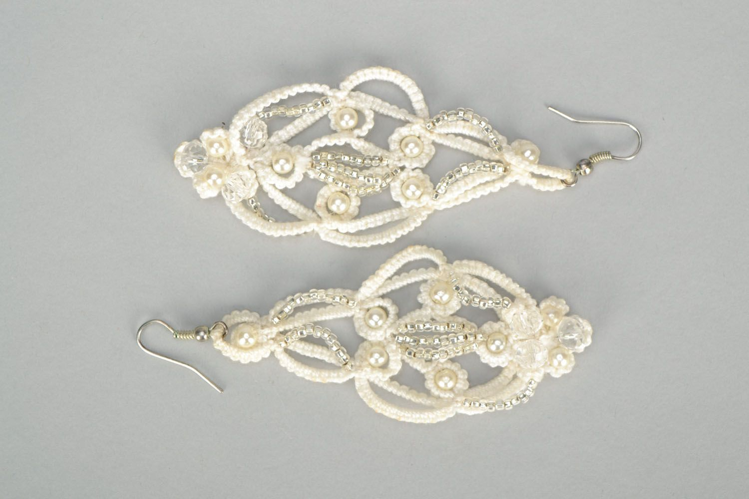 Large tatting earrings photo 2