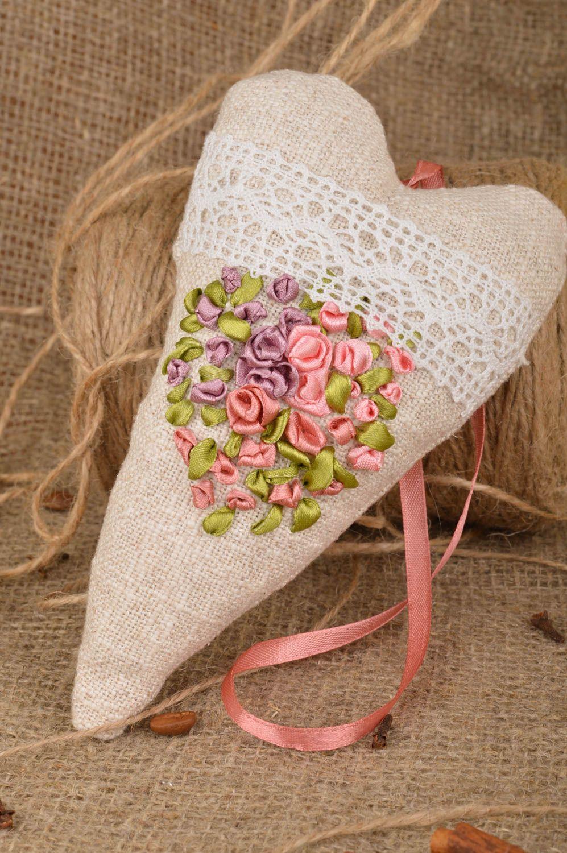 Handmade heart shaped scented fabric interior sachet pillow for home decor photo 1