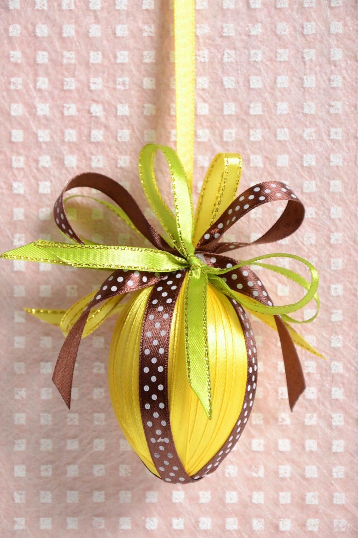 MADEHEART > Beautiful handmade satin ribbon wall hanging interior ...