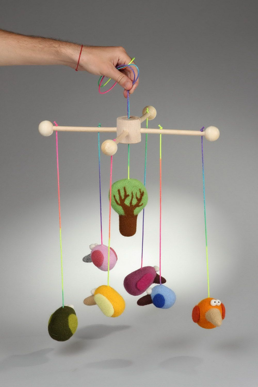 Madeheart jouet mobile pour b b en tissu fait main - Mobile bebe fait main ...