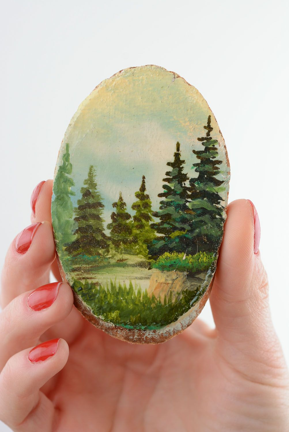Wooden fridge magnet Firs photo 3