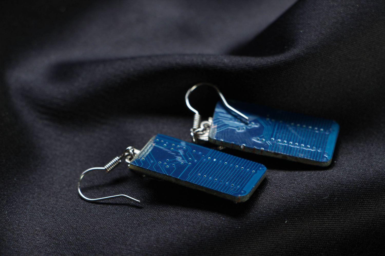 steampunk earrings Handmade earrings with microchips - MADEheart.com