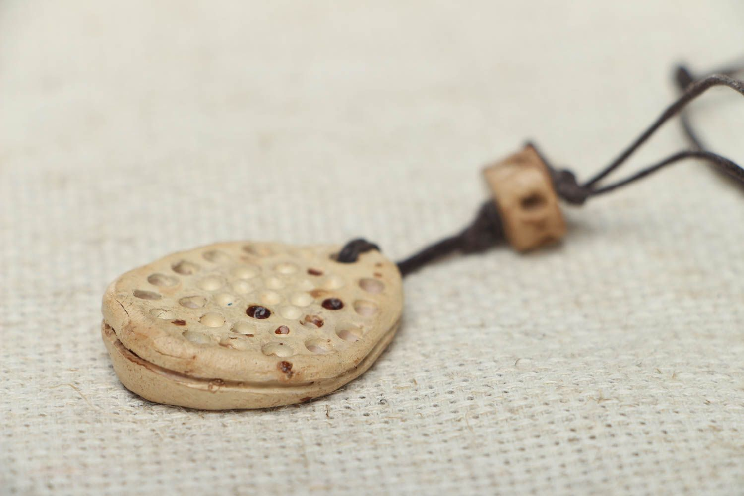 Ceramic pendant with cord photo 3
