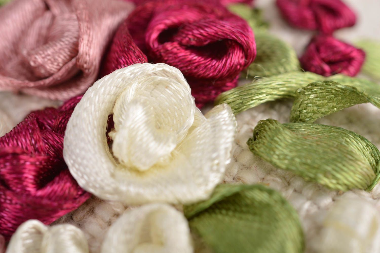 Unusual handmade designer linen fabric interior hanging sachet pillow with aroma photo 4