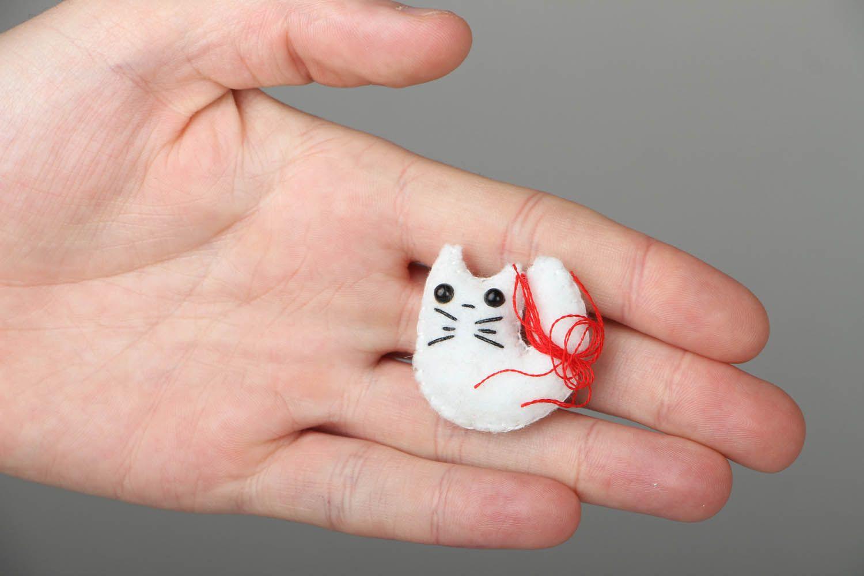 Felt fridge magnet Cat photo 4