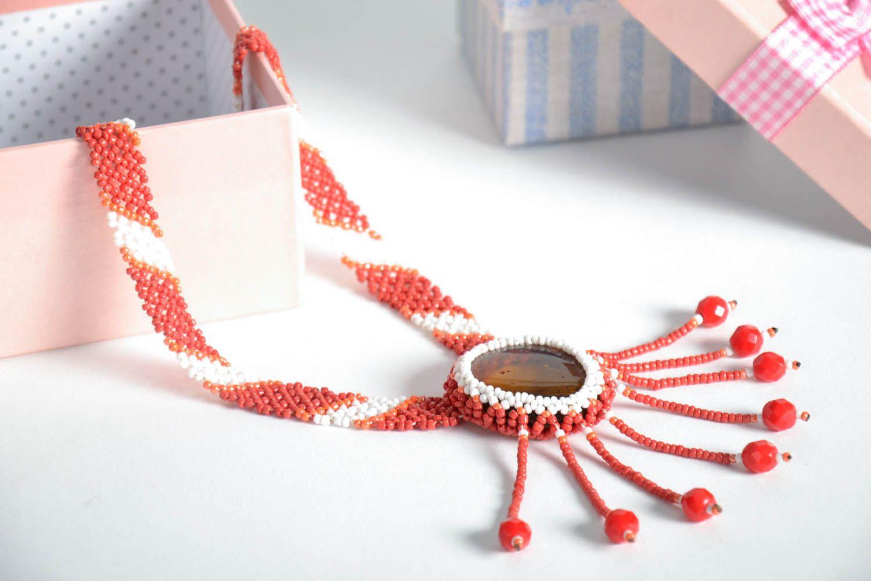 Bead necklace Sun photo 1