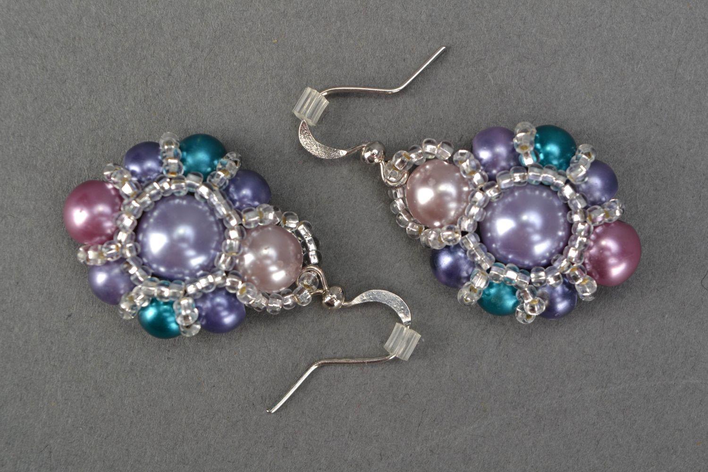 Beaded earrings Violet photo 3