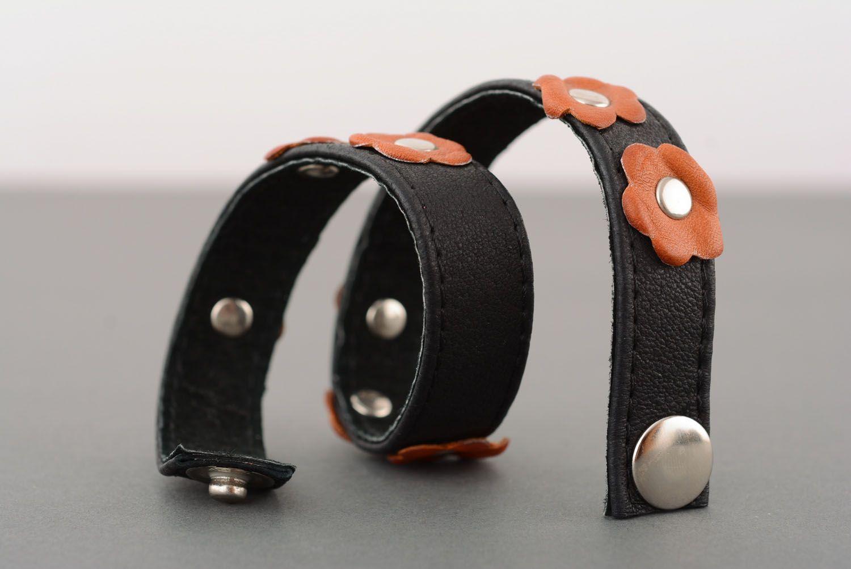 Leather double wrap bracelet photo 4