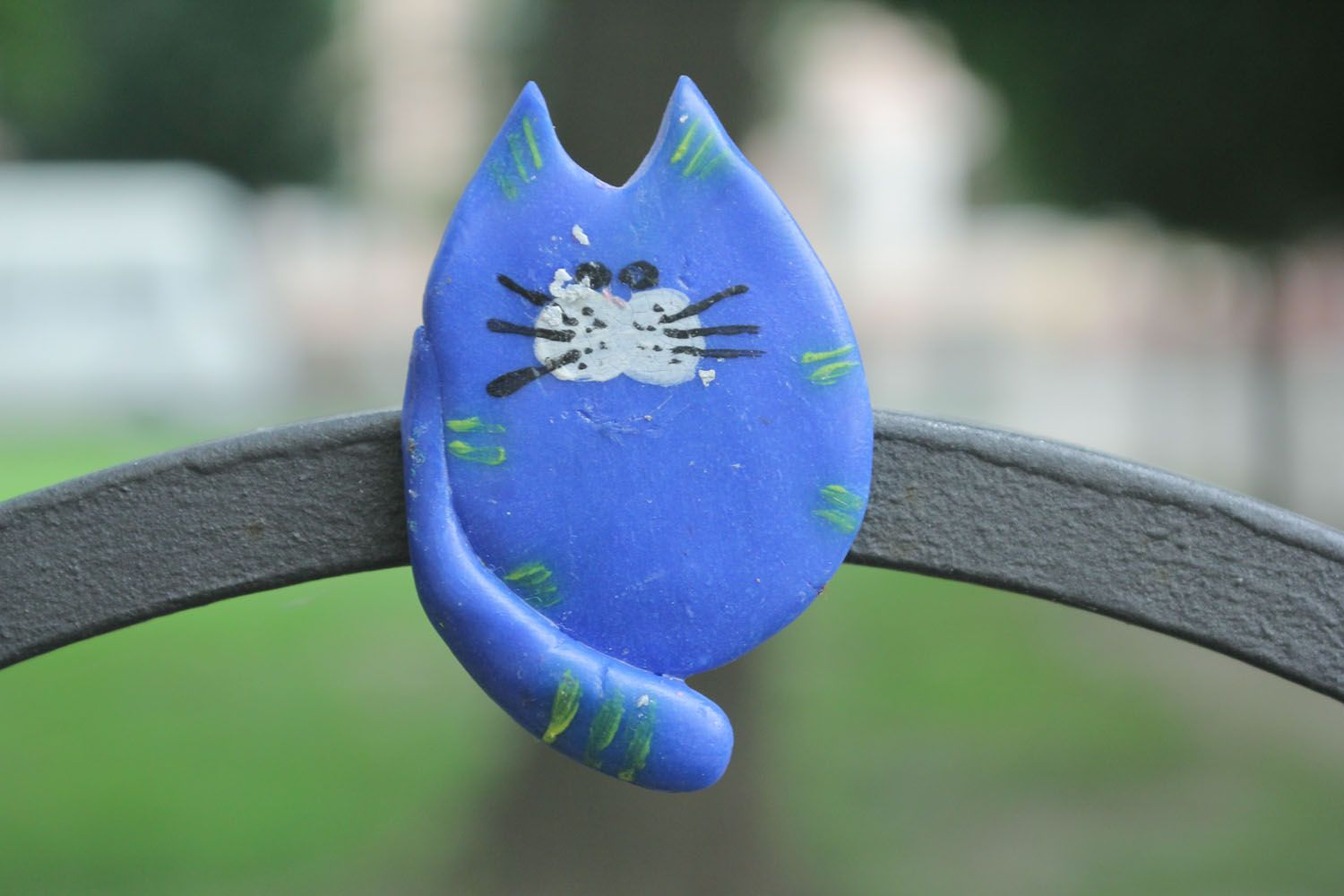 Polymer clay magnet Cat photo 1