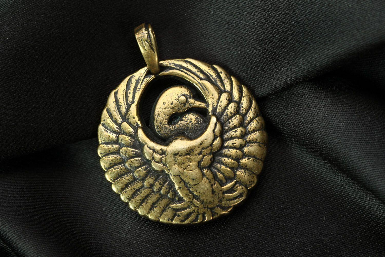 Anhänger aus Bronze Storch foto 1