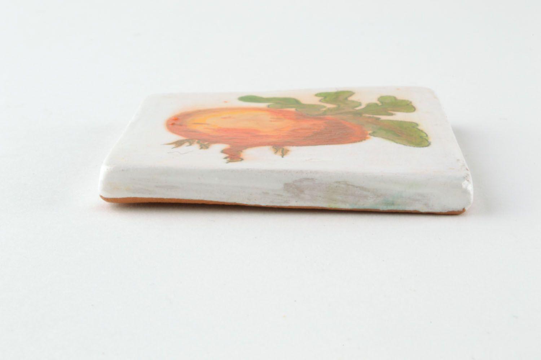 Homemade ceramic fridge magnet photo 3