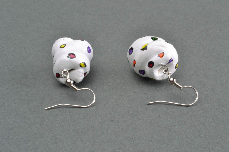 Polymer clay earrings Zephyr photo 4