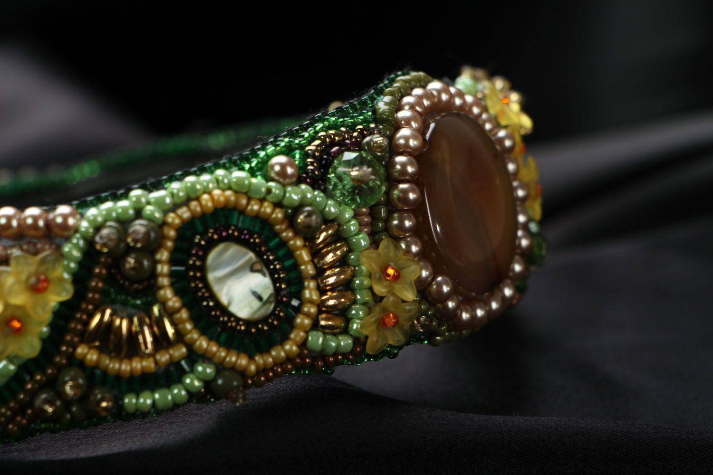 Headband with Czech beads photo 3