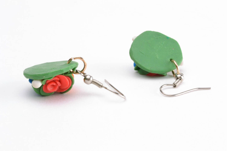 Polymer clay earrings photo 4