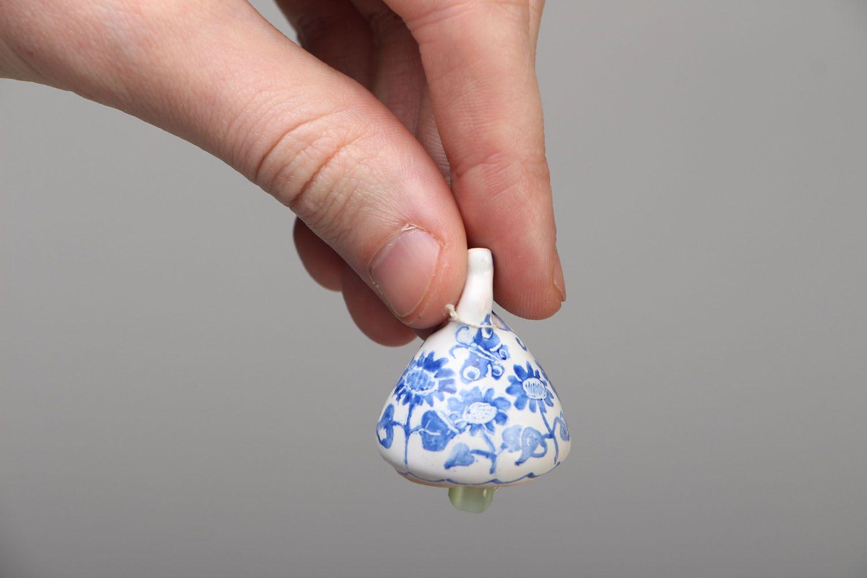 Ceramic bell kilned in a furnace photo 4