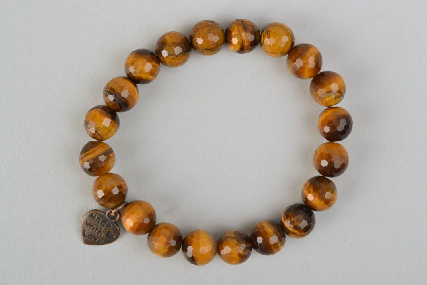 Interesting bracelet with brown agate photo 4