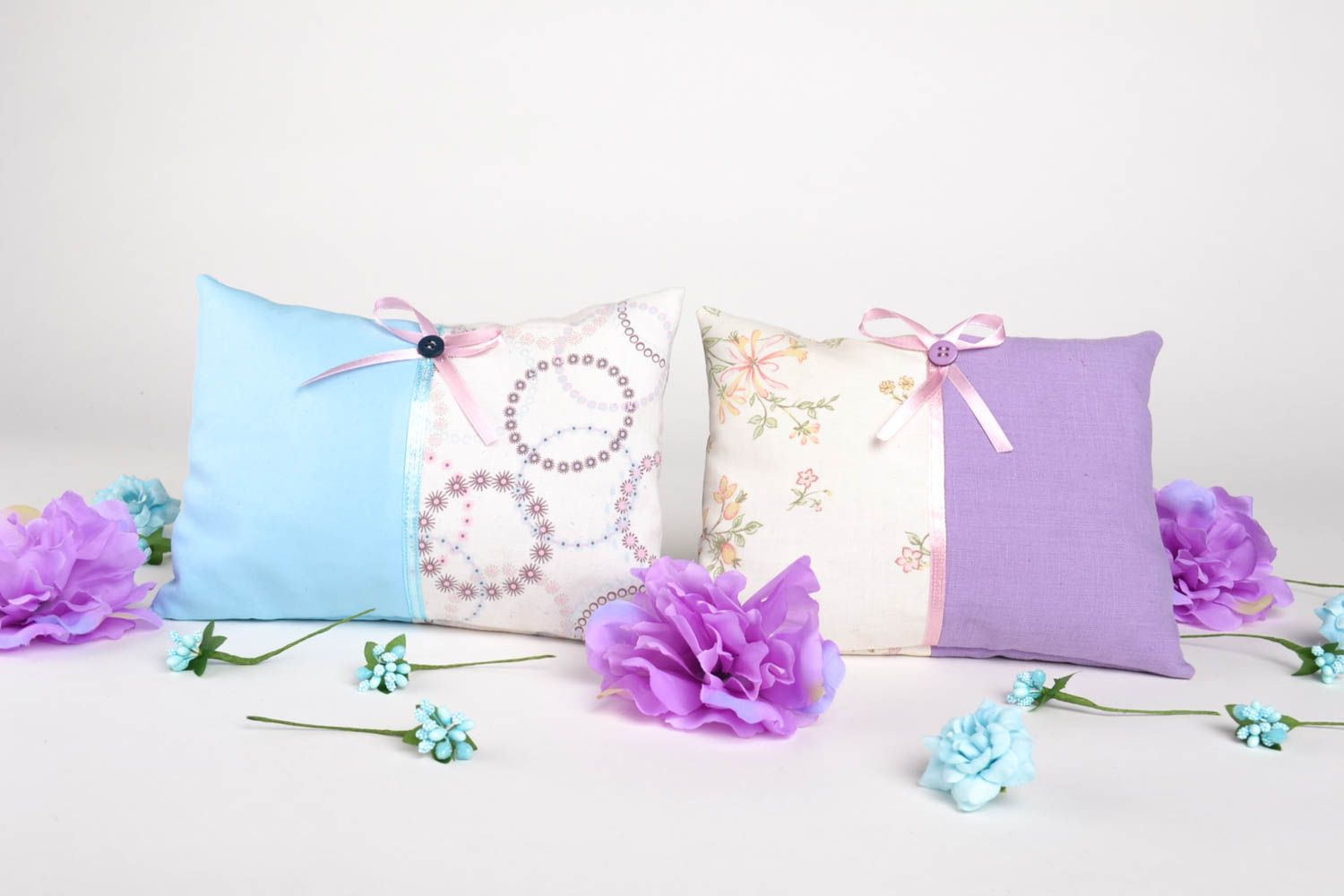 Homemade home decor 2 sachet pillows scented sachets homemade gifts for friends photo 1