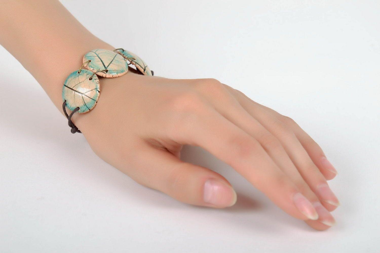 Joli bracelet en céramique fait main photo 5