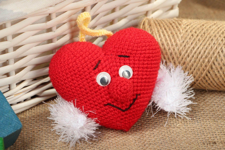 Открытка вязанное сердце