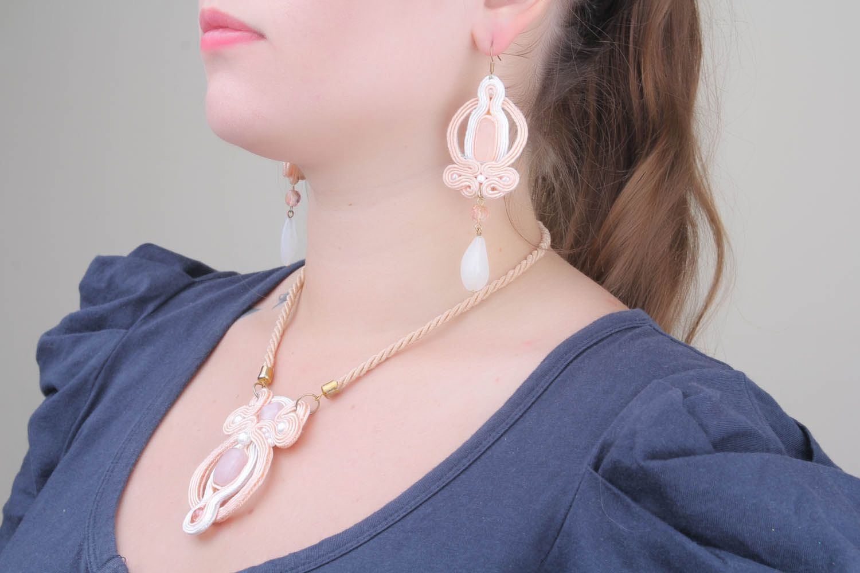 Soutache cord jewelry set photo 1