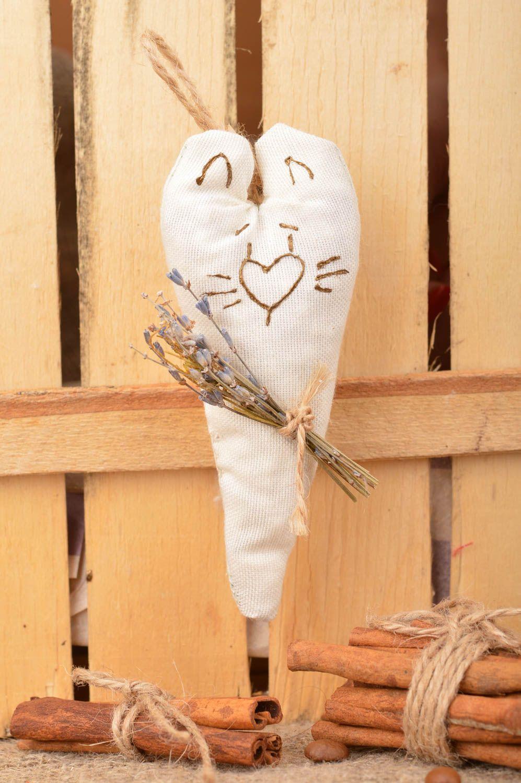 Handmade interior decorative wall hanging sachet pillow with lavender aroma photo 1