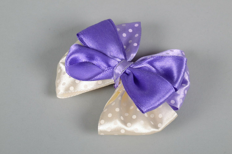 Hair clip Violet Bow photo 3