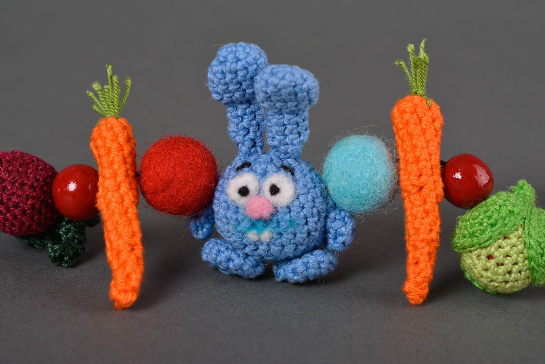 joyería de Tela Collar tejido a crochet bisutería artesanal regalo original para niños y madres ,