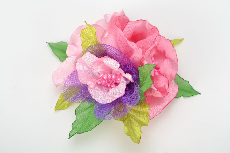 Brooch-hair pin Pink Dream photo 1