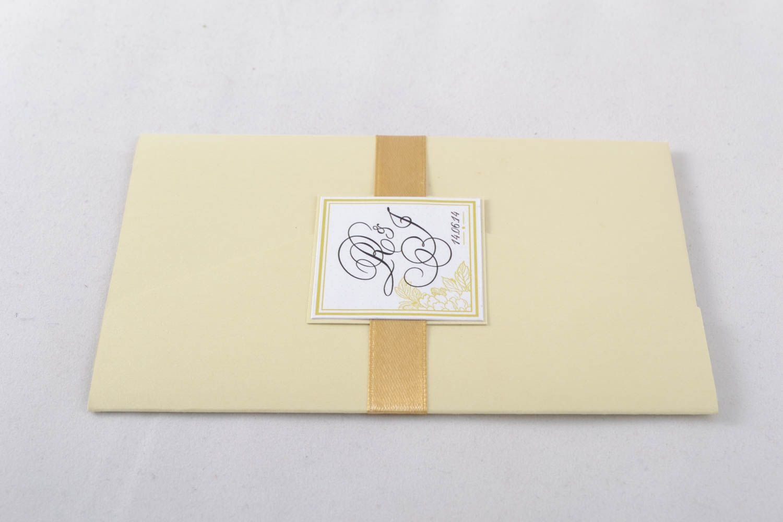 Homemade invitation card photo 1