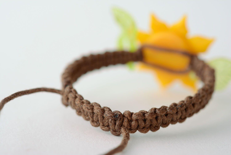 Women's bracelet with flower photo 5