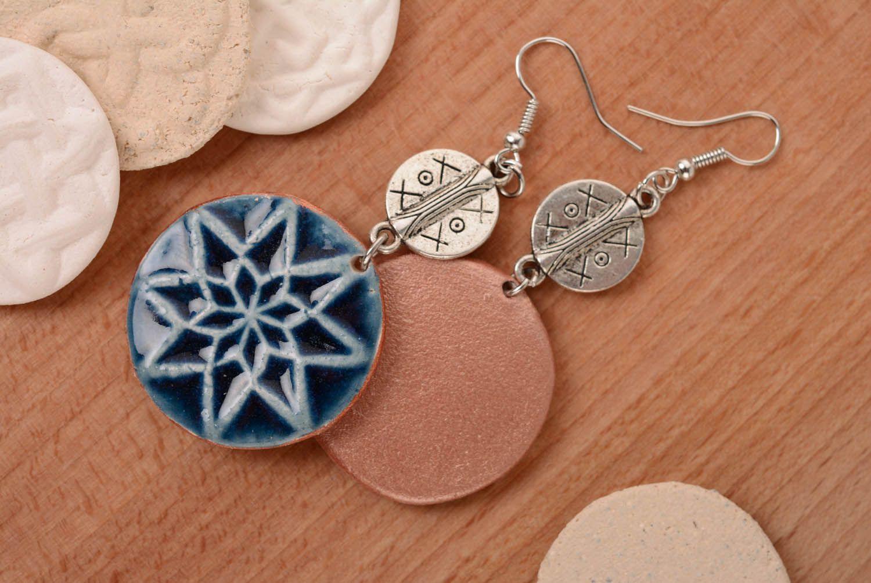 Round amulet earrings Female Alatyr photo 1