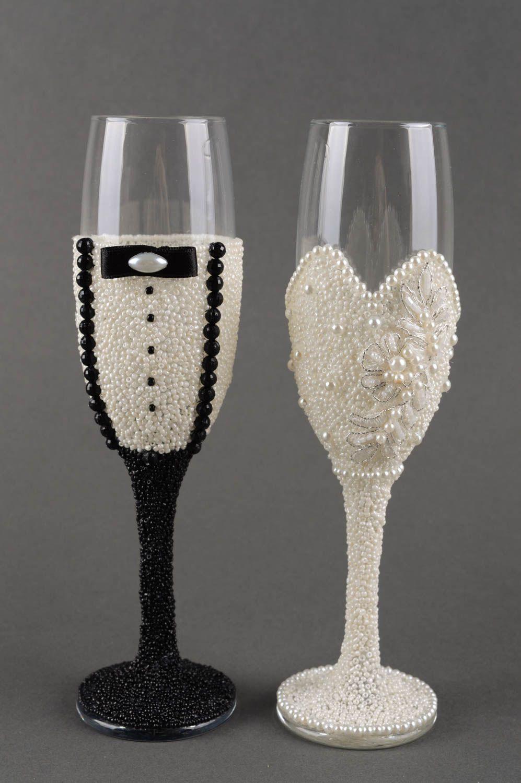 Madeheart copas para boda hechas a mano con cintas vasos for Copas decoradas a mano