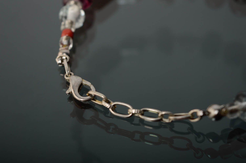 Wrist bracelet made of lampwork glass photo 3