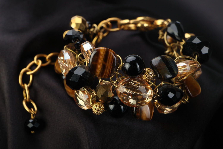 Wrist bracelet with natural stone photo 1