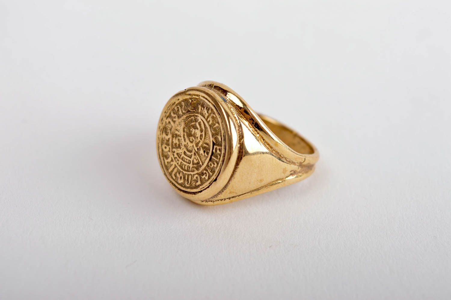 Stylish beautiful ring handmade brass ring metal accessory unisex ring photo 2