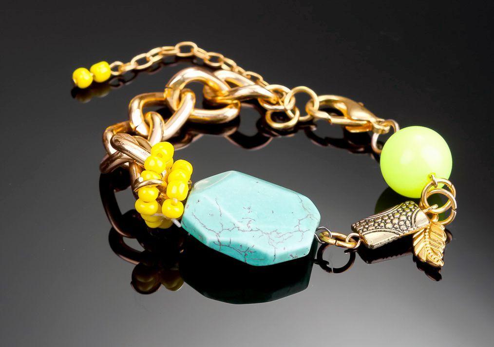 gemstone bracelets Bracelet with turquoise - MADEheart.com